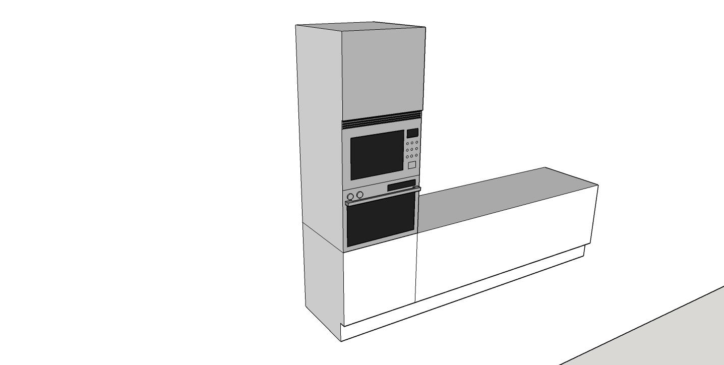 Columna horno microondas medidas for Horno combi microondas